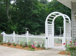 Picket Fence Vinyl Fence In Over A Dozen Picket Styles With Regard