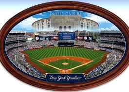 york yankees. new york yankees personalized stadium wall decor oval plate