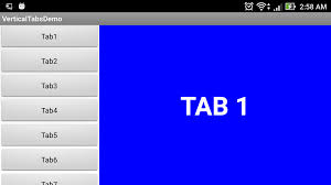 Android Tabs Venkool It Vertical Tabs In Android