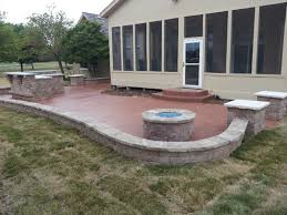 concrete patio with fire pit. Unique Pit Patio U0026 Fire Pits Gallery Slate  In Concrete With Pit