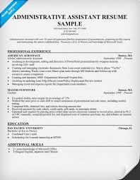 Resume Template For Administrative Assistant Best Resume Templates For Administrative Assistant