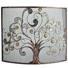 decorative fireplace screens wrought iron wooden fire uk modern