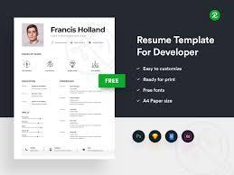 Free Resume Designer Free Resume Template For Designer Get Psd Sketch Resume Templates