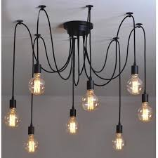 8 light edison bulb led multi light
