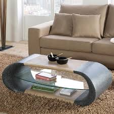 gisele modern granite ash effect coffee table with additional shelf space