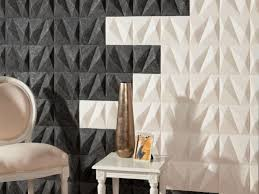 felt panels in two contrasting colors for a bold look