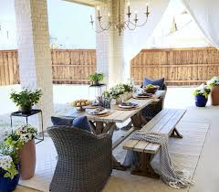 outdoor patio makeover with world