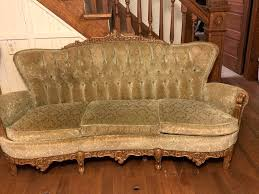 antique sofa set details about antique sofa set olive green hand carved wood 3 piece located antique sofa set