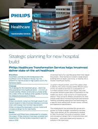Healthcare Brochure Extraordinary Strategic Planning In Healthcare Philips Healthcare