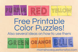 Print kids printable games for free. Color Games For Toddlers Part 4 Color Puzzles Moms Have Questions Too