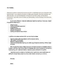 Tutor Cover Letter The Perfect Teaching Cover Letter Template Just Add Your Information