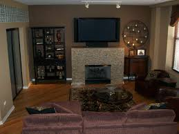 Living Room Accent Wall Living Room With Dark Brown Accent Wall Yes Yes Go