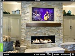 gas fireplace mantels with tv above stone corner fireplace designs