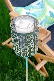 how to easy diy backyard drink holder