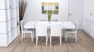 large chunky modern white oak dining set glass legs seats 6 8 rh danetti com solid oak dining room tables white oak dining room furniture