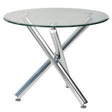 3 feet diameter round glass dining table