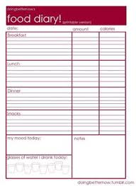 free food journal template download this free food diary it is a great tool to track what you