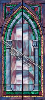 church stained glass decorative window uv covering design in 33 in 33 plain