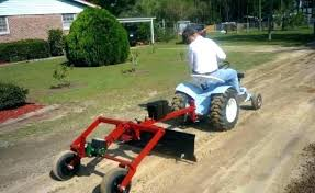 used garden tractors attachments pull behind tractor gardening flower and craftsman tracto