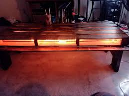 pallet coffee table with lights