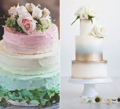 Trendy Ombre Wedding Cakes As An Alternative To A Traditional