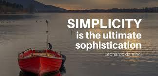 Simple is BEST! - James RG Erice