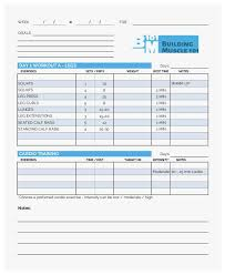 1 Prettier Stocks Of Workout Chart Template Best Of Resume