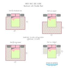 placement of 8x10 rug under king bed area for bedroom rugs size guide double beds everything