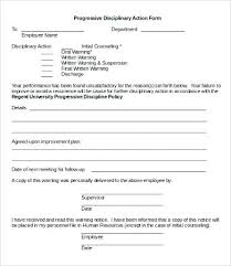 Employee Write Up Policy Employee Write Up Forms Template Best Of Progressive Discipline Form