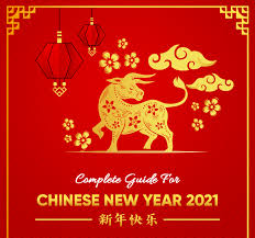 Golden glittering bull zodiac sign with number in grunge style on a black background with pattern. All You Need To Know To Sell In Chinese New Year Sale 2021