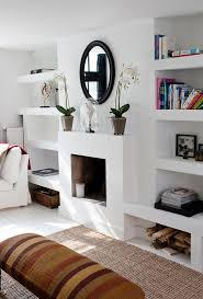 amsterdam apartment fireplace build in shelves on both sides barefootstyling com