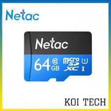 Thẻ nhớ netac class 10 64gb 32gb 16gb dùng cho camera yoosee xiaomi imou  hik ezviz .. điện thoại các loại ...vv - KOI TECH | Thẻ Nhớ Máy Ảnh