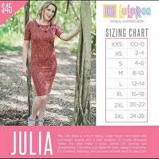 Lularoe Size Chart Lularoe Julia Dress New With Tags Select Your Shade And Size