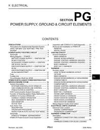 2006 nissan altima power supply ground circuit elements 2006 nissan altima power supply ground circuit elements section pg 74 pages