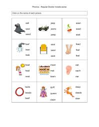 Free and zero prep printable books to introduce phonics letter and sounds. Phonics Regular Double Vowels Ee Ea Worksheet