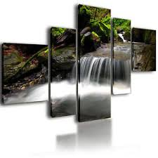 image is loading extra large canvas pictures waterfall wall art split  on extra large multi panel wall art with extra large canvas pictures waterfall wall art split multi panel 52