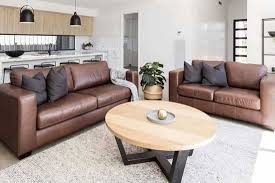 rug goes with a brown sofa