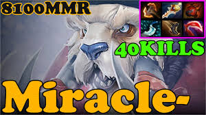 dota 2 miracle 8100 mmr plays tusk ranked match gameplay