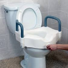 elongated raised toilet seat. drive removable-arm raised toilet seat by drive. $66.88. adds an additional 5 inches to enable you get on and off easier. fits most round elongated