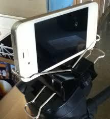 iphone tripod mount using binder clips