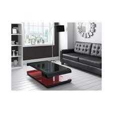 high gloss black coffee table with led lighting tiffany range tiff010