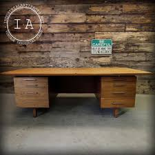 Mid Century Modern Office vintage mid century modern seven drawer office desk industrial 1665 by xevi.us
