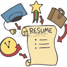 Simple Resume Clip Art Resume For Study Throughout Resume Clipart