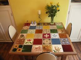 Commercial Street Tiled Table