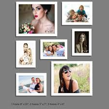 pc white photo frame wall collage 2pc 8 x 10 2pc 5 x 7 3pc 4 x 6