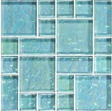 12 x12 turquoise mixed glass tile