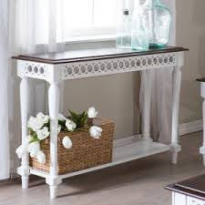 white console table with drawer. Belham Living Jocelyn Console Table - White/Walnut White With Drawer