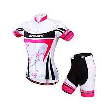 2016 <b>Wosawe</b> Womens White <b>Cycling Jerseys</b> Shirts <b>Summer</b> ...