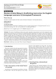 Scaffolding Definition Vygotsky Pdf Review Of Aida Walquis Scaffolding Instruction For