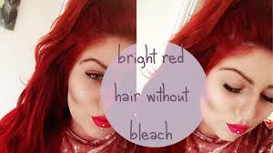 No Bleach Bright Red Hair Loreal Majicontrast Tutorial